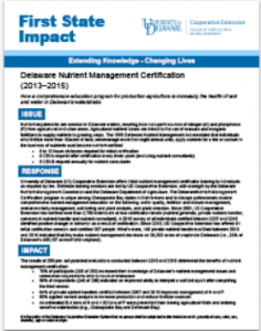 Nutrient Management Certification Impact Statement pdf