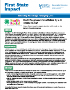4-H Health Rocks Impact Statement pdf