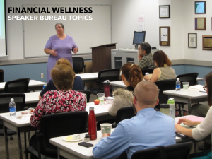 Maria Pippidis conducts a financial wellness workshop
